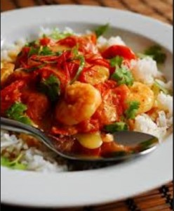 Curried Prawns in Coconut Mik